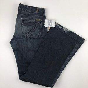 7 for all mankind dojo flare jean 30x33